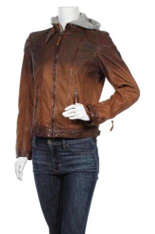 Γυναικείο δερμάτινο μπουφάν Gipsy, Μέγεθος M, Χρώμα Καφέ, Γνήσιο δέρμα, Τιμή 114,47€
