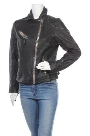 Γυναικείο δερμάτινο μπουφάν Gipsy By Mauritius, Μέγεθος L, Χρώμα Μαύρο, Γνήσιο δέρμα, Τιμή 114,47€