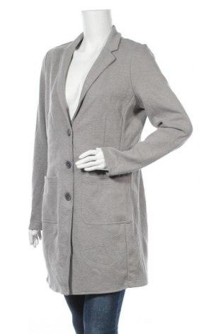 Дамско палто Tom Tailor, Размер L, Цвят Сив, 52% полиестер, 45% памук, 3% еластан, Цена 77,35лв.