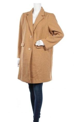 Дамско палто Tom Tailor, Размер XXL, Цвят Кафяв, 95% полиестер, 5% вълна, Цена 83,85лв.