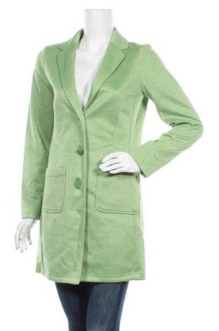 Дамско палто Tom Tailor, Размер M, Цвят Зелен, 65% полиестер, 30% вискоза, 5% еластан, Цена 83,85лв.