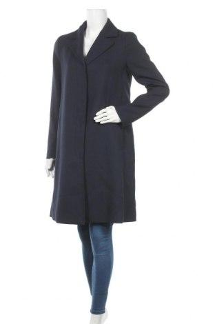 Дамско палто Tommy Hilfiger, Размер M, Цвят Син, 64% полиестер, 34% вискоза, 2% еластан, Цена 223,30лв.