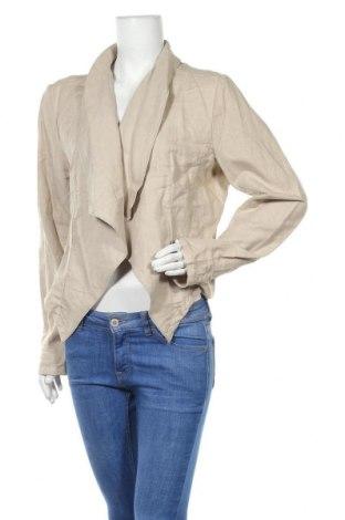 Дамско сако Colours Of The World, Размер XXL, Цвят Бежов, 60% лен, 40% памук, Цена 8,51лв.