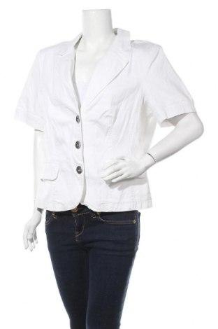 Дамско сако Madeleine, Размер XL, Цвят Бял, 96% памук, 4% еластан, Цена 37,91лв.
