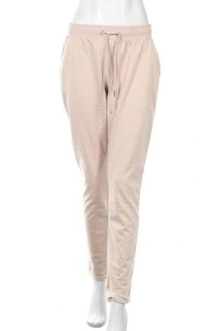 Pantaloni trening de femei Lascana, Mărime L, Culoare Bej, 50% bumbac, 50% poliester, Preț 58,22 Lei