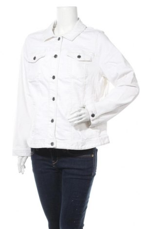 Γυναικείο μπουφάν Tom Tailor, Μέγεθος XXL, Χρώμα Λευκό, 99% βαμβάκι, 1% ελαστάνη, Τιμή 17,51€