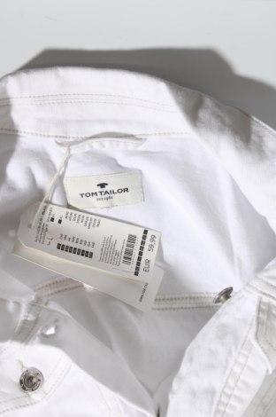 Geacă de femei Tom Tailor, Mărime L, Culoare Alb, 98% bumbac, 2% elastan, Preț 194,90 Lei