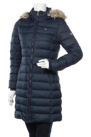 Γυναικείο μπουφάν Tommy Hilfiger, Μέγεθος S, Χρώμα Μπλέ, Πολυεστέρας, φτερά και πούπουλα, Τιμή 215,98€