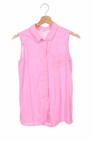Детска риза H&M, Размер 12-13y/ 158-164 см, Цвят Розов, Вискоза, Цена 3,00лв.
