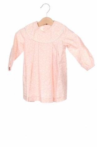 Детска рокля Lola Palacios, Размер 9-12m/ 74-80 см, Цвят Розов, Памук, Цена 44,25лв.