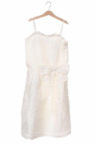 Детска рокля River Island, Размер 11-12y/ 152-158 см, Цвят Бял, 88% полиестер, 12% памук, Цена 45,82лв.