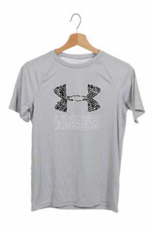 Dětské tričko  Under Armour, Velikost 11-12y/ 152-158 cm, Barva Šedá, Polyester, Cena  292,00Kč