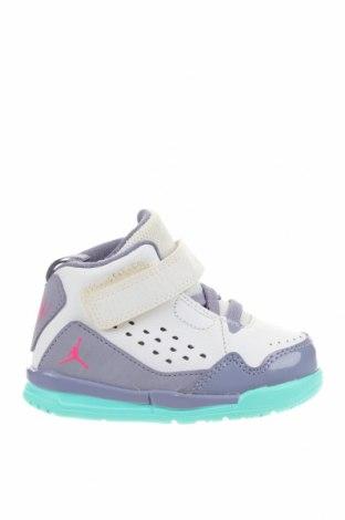 Παιδικά παπούτσια Air Jordan Nike, Μέγεθος 21, Χρώμα Λευκό, Δερματίνη, κλωστοϋφαντουργικά προϊόντα, Τιμή 27,77€