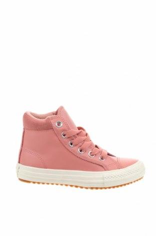 Детски обувки Converse, Размер 30, Цвят Розов, Естествена кожа, естествен велур, Цена 66,75лв.