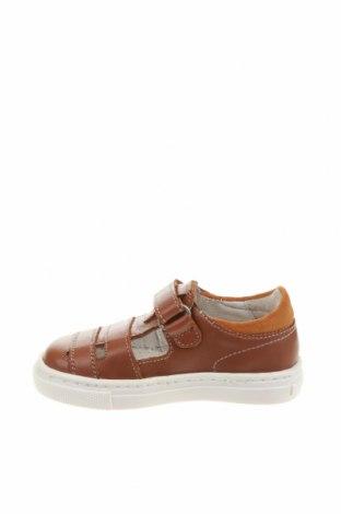 Детски обувки Garvalin, Размер 21, Цвят Кафяв, Естествена кожа, Цена 72,00лв.