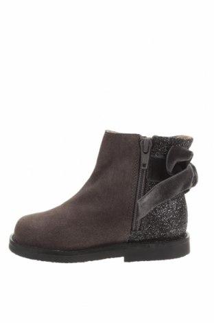 Детски обувки Oca-Loca, Размер 24, Цвят Сив, Естествен велур, текстил, Цена 149,00лв.