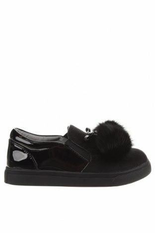 Детски обувки Oca-Loca, Размер 31, Цвят Черен, Текстил, еко кожа, естествен косъм, Цена 48,06лв.