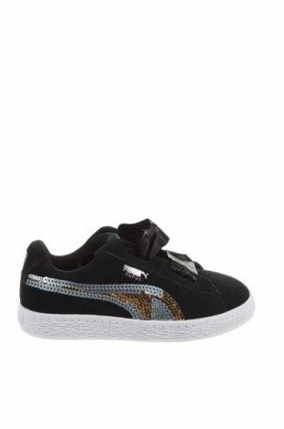 Детски обувки PUMA, Размер 30, Цвят Черен, Естествен велур, Цена 47,52лв.