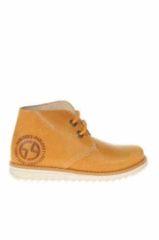 Детски обувки Pablosky, Размер 31, Цвят Жълт, Естествена кожа, Цена 43,09лв.