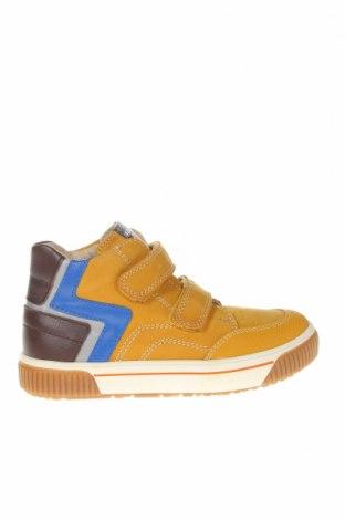 Детски обувки Pablosky, Размер 31, Цвят Жълт, Естествен велур, естествена кожа, еко кожа, Цена 56,68лв.