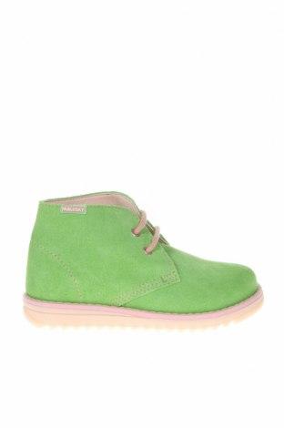 Детски обувки Pablosky, Размер 26, Цвят Зелен, Естествен велур, Цена 33,32лв.