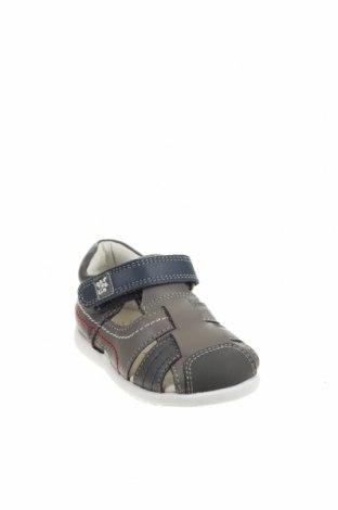 Детски сандали Garvalin, Размер 18, Цвят Сив, Естествена кожа, Цена 16,90лв.