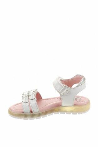 Детски сандали Garvalin, Размер 24, Цвят Бял, Естествена кожа, Цена 23,49лв.