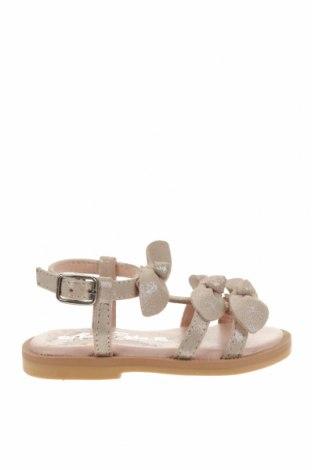 Детски сандали Oca-Loca, Размер 20, Цвят Бежов, Естествен велур, Цена 23,84лв.