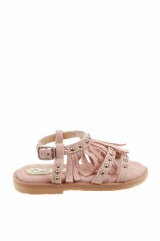 Детски сандали Oca-Loca, Размер 21, Цвят Розов, Естествен велур, Цена 22,24лв.