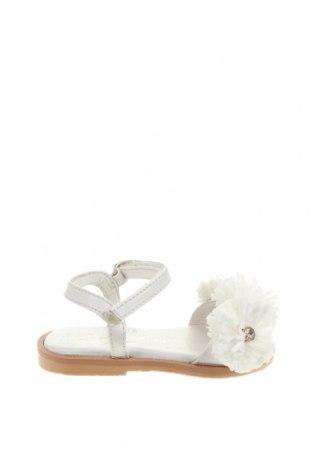 Детски сандали Oca-Loca, Размер 21, Цвят Бял, Естествена кожа, текстил, Цена 26,07лв.