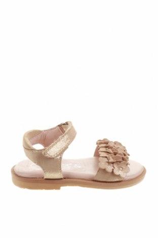 Детски сандали Oca-Loca, Размер 21, Цвят Златист, Естествена кожа, Цена 25,92лв.