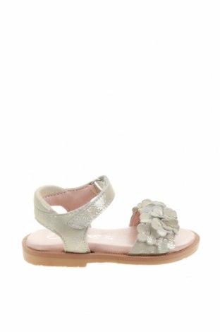 Детски сандали Oca-Loca, Размер 21, Цвят Сив, Естествена кожа, Цена 23,59лв.