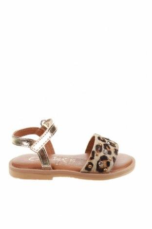Детски сандали Oca-Loca, Размер 21, Цвят Многоцветен, Естествена кожа, естествен косъм, Цена 23,14лв.