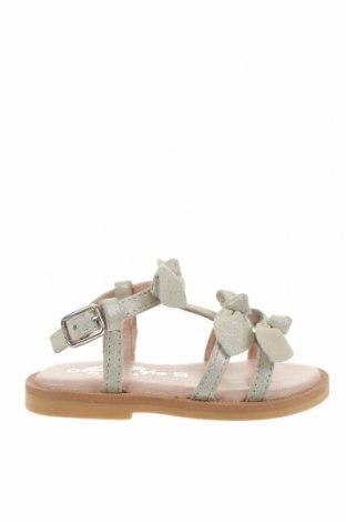Детски сандали Oca-Loca, Размер 20, Цвят Сив, Естествен велур, Цена 24,98лв.