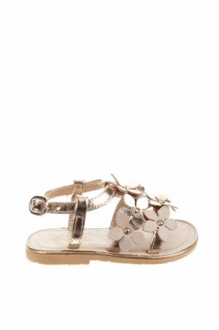 Детски сандали Oca-Loca, Размер 20, Цвят Сребрист, Естествена кожа, Цена 22,54лв.