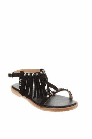 Детски сандали Oca-Loca, Размер 31, Цвят Черен, Естествен велур, Цена 41,04лв.