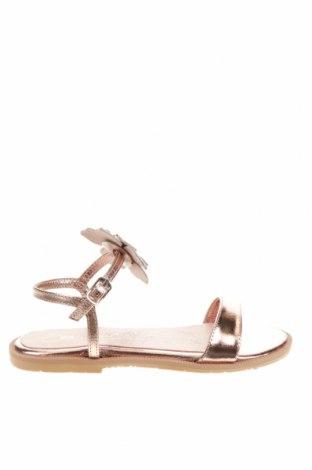 Детски сандали Oca-Loca, Размер 31, Цвят Златист, Естествена кожа, Цена 35,55лв.