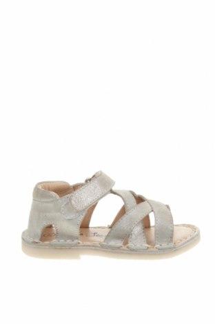 Детски сандали Oca-Loca, Размер 21, Цвят Бежов, Естествен велур, Цена 29,23лв.