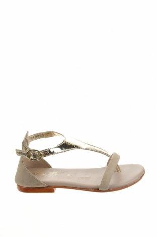 Детски сандали Oca-Loca, Размер 31, Цвят Златист, Естествена кожа, естествен велур, Цена 43,20лв.