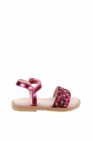 Детски сандали Oca-Loca, Размер 21, Цвят Розов, Естествена кожа, естествен косъм, Цена 21,60лв.