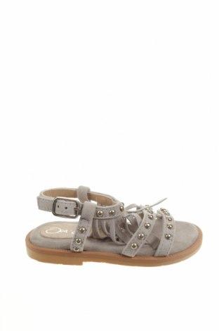 Детски сандали Oca-Loca, Размер 21, Цвят Сив, Естествен велур, Цена 23,70лв.