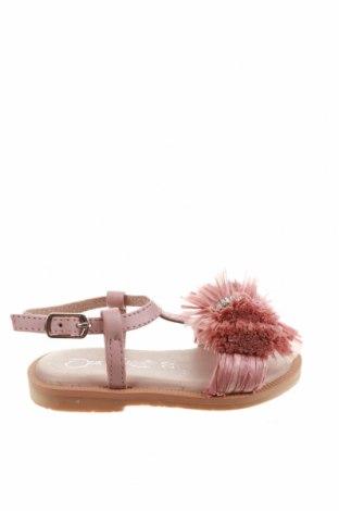 Детски сандали Oca-Loca, Размер 20, Цвят Розов, Естествена кожа, Цена 51,35лв.