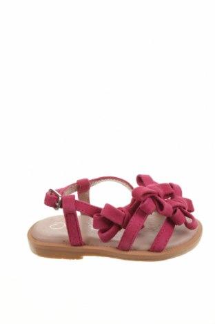 Детски сандали Oca-Loca, Размер 20, Цвят Розов, Естествен велур, Цена 20,47лв.