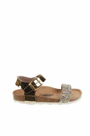Детски сандали Sunbay, Размер 31, Цвят Златист, Еко кожа, Цена 34,65лв.