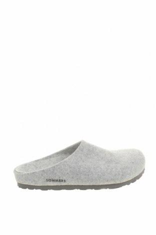 Papuci de casă Sommers, Mărime 37, Culoare Gri, Textil, Preț 100,07 Lei