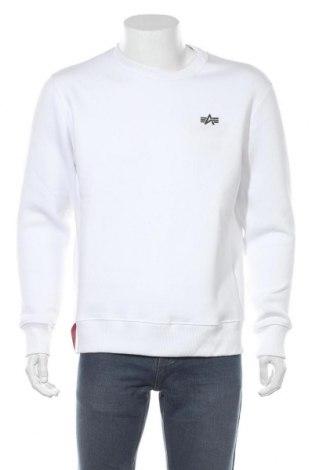 Мъжка блуза Alpha Industries, Размер M, Цвят Бял, 80% памук, 20% полиестер, Цена 65,80лв.