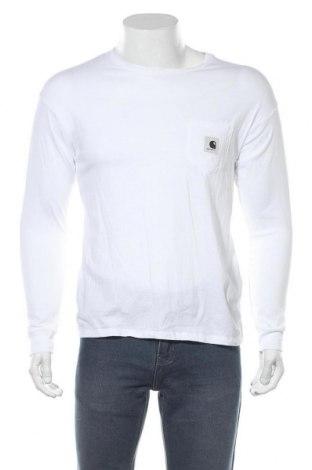 Мъжка блуза Carhartt, Размер S, Цвят Бял, Памук, Цена 62,30лв.