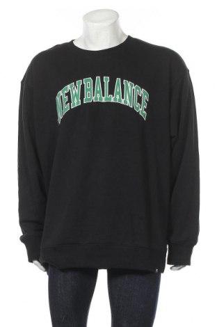 Мъжка блуза New Balance, Размер XXL, Цвят Черен, 64% памук, 36% полиестер, Цена 30,60лв.