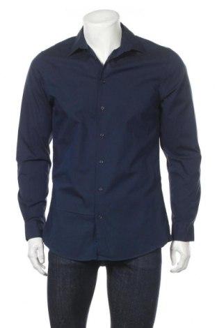 Мъжка риза Angelo Litrico, Размер M, Цвят Син, Памук, Цена 18,90лв.