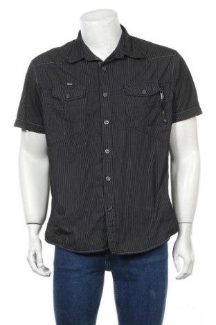 Мъжка риза Angelo Litrico, Размер XL, Цвят Черен, 65% полиестер, 35% памук, Цена 17,85лв.